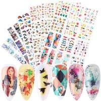 12 قطع مثير فتاة مسمار ملصقات فراشة مجردة المياه الشارات الأغطية الملونة لطيف المتزلجون لمسمار تزيين نصائح bebn1657-1688