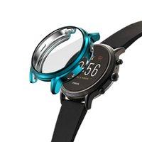 Pour Fossil Gen 5 Watch Case Screen Protector Couvercle Pleineux Pare-chocs léger TPU TPU Slim Slim Shell Plusieurs accessoires de couleur