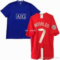 Retro Classic 2007 2008 2009 Manchester United man utd Jerseys de fútbol Manchester Rooney Scholes Giggs Ronaldo 07/09 United Retro Football Shirt
