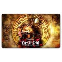 Yugioh Shonen Jump Playmat Placa Jogos TCG Cartões PLAY Tapete, Personalizado Dark Magician Girl Yu-Gi-Oh Design Tapete De Design Jogo Pad Free Bags Y200421