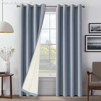 Занавес Drapes Makeome Хлопковое белье 100% закрывает шторы для спальни верхний сорт тепловой гостиной кухня мягкая ткань