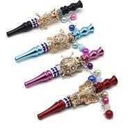 Metallo Blunt Holder Fumo Hookah Consigli Shisha Nargila Bocca Bocca di lusso femminile Diamond-Embedded Sigaretta Medio Accesso