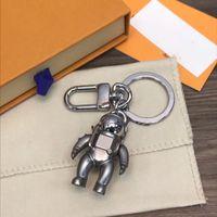 Hohe Qualtiy Edelstahl Keychain Schlüsselanhänger Schlüsselanhänger Halter Marke Schlüsselanhänger Männer Frauen Auto Tasche Keychain mit Box R36A