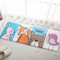 Lovely Happy Animal Carpet Entrance Floor Rug Kitchen Long Carpet Non-slip Soft Baby Mat Cartoon Bedroom Living Room Decor
