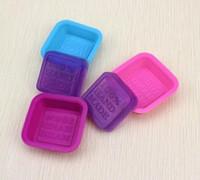 100% Handmade Soap Molds DIY Square Silicone Molds Cozimento Molde Art artesanato Fazer ferramenta DIY Bolo Molde SN2124
