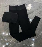 2021 Yeni Moda kadın Elastik Yüksek Bel Yan Fermuar Patchwork Mektup Baskı Sıkı Siyah Renk Tayt Uzun Pantolon SML