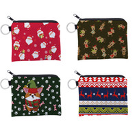 Christmas Storage Bag Portable Cartoon Printing Coin Purse P...