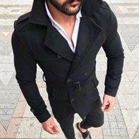 Männer Jacken Retro Wolljacke Männer Wolle Warme Trenchmantel Doppel Breasted Mode Männliche Winter Herbst Mantel