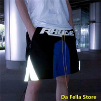 EU / USA Taille des États-Unis Rhude Shorts Nouveaux Hommes Femmes Casual Rhude Shorts Black Blue Design Corner Reflet BreeckCloth Royaume-Uni Back Pocket Y200901