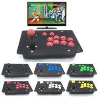 Игра Контроллеры Джойстики RAC-J500S 10 Кнопки Arcade Joystick USB Проводная Черная Акриловая панель для ПК