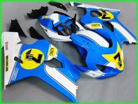 Kit de carénage Blue AD42 Bleue d'injection de 1000% sur mesure pour 2004 2005 Suzuki GSXR 600 750 K4 GSXR600 GSXR750 04 05 GSX R750 Farécences