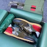 Zapatillas de zapatillas de zapatillas de zapatillas de zapatillas de zapatillas de rockrunner de primera calidad camuflaje noir metalico entrenador de cuero real zapatos de plataforma zapatos de zapatillas de deporte al aire libre Caja de lujo 264