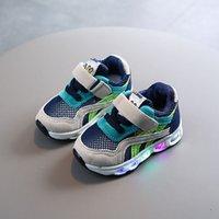 2020 outono e inverno tênis de malha infantil para homens 1-5 anos de idade 3 iluminados meninas 'calçados de malha infantil criança soled crianças shoes D1029