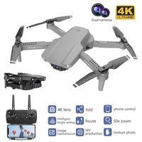 Новый E99 PRO Drone 4K Оптический поток Quadrocopter с двойными камерами Складной RC Dron Smart Следуйте за мной Супер широкоугольный камера1