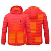 Ebaihui 2021 venda quente casacos aquecidos para baixo algodão aquecido inverno homens mulheres em tamborço usb aquecimento capuz jaqueta térmica casaco térmico navio rápido