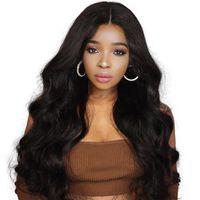 parrucche dei capelli umani fronte 13 * 4 pizzo per le donne dell'onda brasiliana frontal del merletto parrucca pre pizzicate con nodi capelli remy capelli del bambino sbiancati