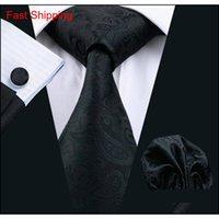Hızlı Kargo Kravat Klasik Siyah Tasarımcı Paisley Ipek Düğün Marka Için Erkek Aksesuarları Moda Business Suit T Qylngw Homes2007