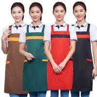 مريلة فارغة الرجال النساء المنزلية للماء مضاد الأزياء المئزر مئزر تصميم مخصص شعار المطبخ الإعلان مآزر بالجملة DBC 22 K2