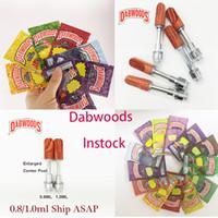 DABWOODS Cartucce VAPE Imballaggio Packaging Carrelli a penna Atomizzatore Cartuccia di ceramica Cartuccia bobina 1.0ml 0.8ml Tensione in legno E sigaretta VAPES-cart