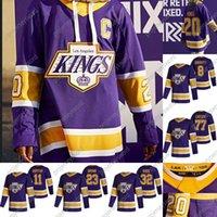 Los Angeles Kings Jonathan Quick 2020 Retro Retro Hockey Jersey Dustin Brown Drew Doughty Trevor Moore Ance Kopitar Jeff Carter Matt Roy