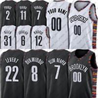 مخصص بروكلينز فريق جيرسي جو عميد هاريس جيرسي لاندي بروس شمسة براون الفانيلة جيف ريجي الأخضر بيري جيرسي كرة السلة