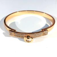 Círculo de círculo caliente Pulseras de oro Mujeres Brazaletes Punk para el mejor regalo Lujoso Superior de calidad Joyería Cinturón de cuero H Brazalets Pulseras gratis