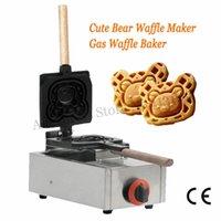 Ekmek Makineleri Gazlı Waffle Baker Sevimli Ayı Karikatür Makinesi Snack Cihazı Ev ve Ticari Kullanım