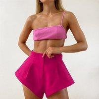 Lyge Summer Flare Sexy Shorts für Frauen Solide Hohe Taille Beiläufige Strand Heiße Shorts Frauen 2020 Mode Streetwear Damen Kleidung T200701