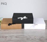 15 stks groot formaat papier doos wit zwart kraftpapier geschenkdozen voor kleding kartonnen doos bruiloft gunst dozen1