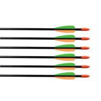 Arco de tiro con arco y flechas de 28 pulgadas de plomo de fibra de vidrio flecha para niños arrow tiro con tiro con tiro de vidrio flechas de fibra de vidrio