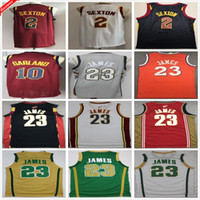 Retro 2003 2004 Vintage Classic Lebron # 23 Джеймс Джерси Борьба с ирландским красным черным белым Коллин 2 Sexton Darius 10 Garlands баскетбол