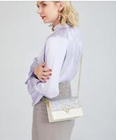 Lederkupplung für Frauen Abendtaschen Mode Kette Geldbörse Dame Umhängetasche Handtasche Presbyopic Mini Paket Messenger Bag Kartenhalter 005