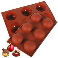 Stampo in silicone per cioccolato, torta, gelatina, budino, forma rotonda mezza caramella stampi non bastone, stampi in silicone gratuito BPA per la cottura