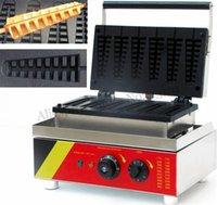 Machines à pain 6 moules NOsttick Electric Lolly Machine de gaufres commerciaux Pin-arbre court-arbre de pintre 110v 220v1