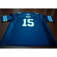Benutzerdefinierte 121 Jugendfrauen Vintage Toronto Argonauts Ricky Ray # 15 Football Jersey Größe S-4XL oder Benutzerdefinierte Name oder Nummernjersey