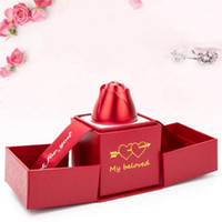2021 New Wedding Propose Rose Ring Box Alloy Necklace Jewelry Gift Storage Case Container Present Gift Packaging Boxes