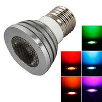 브랜드 새로운 E27 5W 85V-265V RGB 원격 제어 스폿 라이트 램프 스포트 라이트 전구 가정용 Lightin 최고급 소재 스포트 라이트