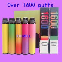 퍼프 XXL 바 전자 담배 1600 퍼프 vape 장치 휴대용 엘프 바 플러스 기화기 펜 MK 마스킹 프로 GT 65mAh에 대한 무료 DHL 선적