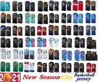 Mens Nova temporada 0 Lillard 11 Jovens 30 Curry 2 Ball 3 Wade 4 Westbrook 12 Morant 13 George Teams Anthony 3 Davis City Basketball Jersey Edition Shirts Sweatpants