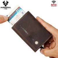 2020 Erkekler Kredi Kartı Tutucu RFID Engelleme RFID Vintage Alüminyum İş Kimlik Kartı