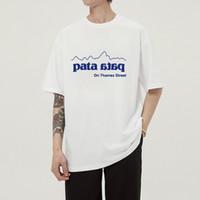 Pata preto branco moda verão homens camisetas verão algodão tees skate hip hop streetwear camisetas DYDHGMC207