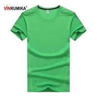 T-shirts pour hommes Vinrumika 6 Couleur Super taille L-9XL Summer Col Vert T-shirt à manches courtes à manches courtes Homme Casual Marque Navy Black Tees1