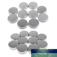20 Stück 10g 15g Runde Aluminiumkosmetikcreme Leere Lippenbalsam-Container Gläser Dose