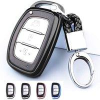 Держатель защиты TPU с ключевой цепью для Hyundai Tucson Elantra Sonata I40 IX35 I45 Smart 4 5 кнопок (черный)