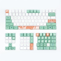 Teclado mecânico Keycaps Mint Leite Original Cereja Perfil 128 Chaves Compatível Cherry MX Kailh Gateron Switches