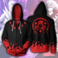 Anime Naruto Vestes Vêtements Costumes Men Hoodies Sweatshirts Uzumaki Akatsuki Haruno Sakura Hat Vêtements Sasuke Zipper Tops