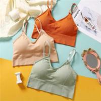 Bras mulheres underwear algodão sutiã ajustável alça de ombro zero pressão, restrição e se reúnem no Daily1