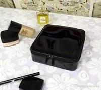 Классические черные новые женщины мода косметический ящик для хранения организатор макияж мешки для хранения модный пакет портативный туалет туалетная сумка VIP подарок