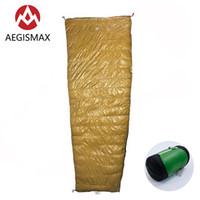 Aegismax Light Série Ganso para baixo Saco de dormir Envelope Portátil Ultralight Splicable para Camping ao ar livre Caminhadas Viagem