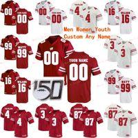 Cucito Personalizzato 37 Garrett Greshek 4 AJ Taylor 42 TJ Watt 45 Alec Ingold Wisconsin Badgers College Men Donne Jersey